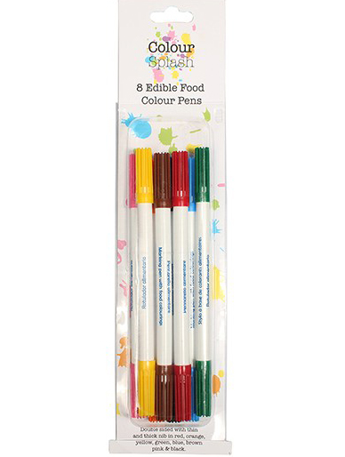 Colour Splash Edible Food Colour Pens - 8 Pack